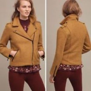 Cartonnier Anthropologie Wool Moto Jacket